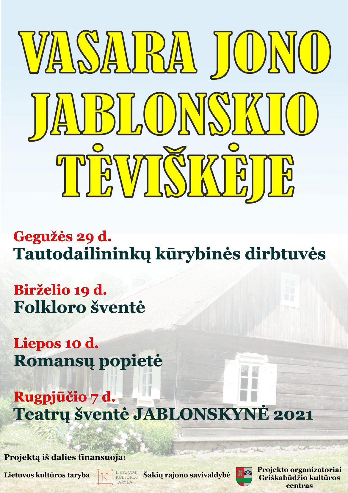 VASARA JONO JABLONSKIO TĖVIŠKĖJE